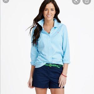 Vineyard Vines Mini Gingham Shirt button-down Sz 8